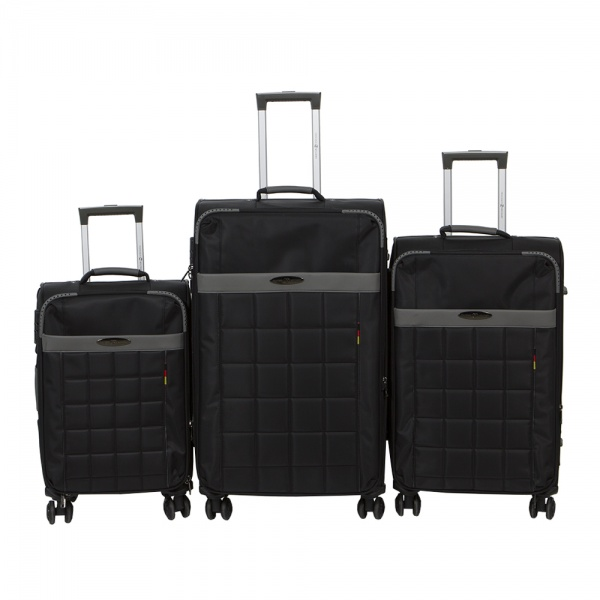 Комплект чемоданов 262-890/3-BLK Francesco Molinary FMolinary Франческо Молинари FMolinari Molinari