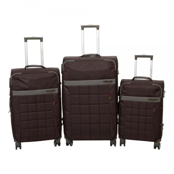 Комплект чемоданов 262-890/3-BRW Francesco Molinary FMolinary Франческо Молинари FMolinari Molinari