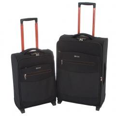 Комплект чемоданов 270-2315/2-BLK Francesco Molinary FMolinary Франческо Молинари FMolinari Molinari