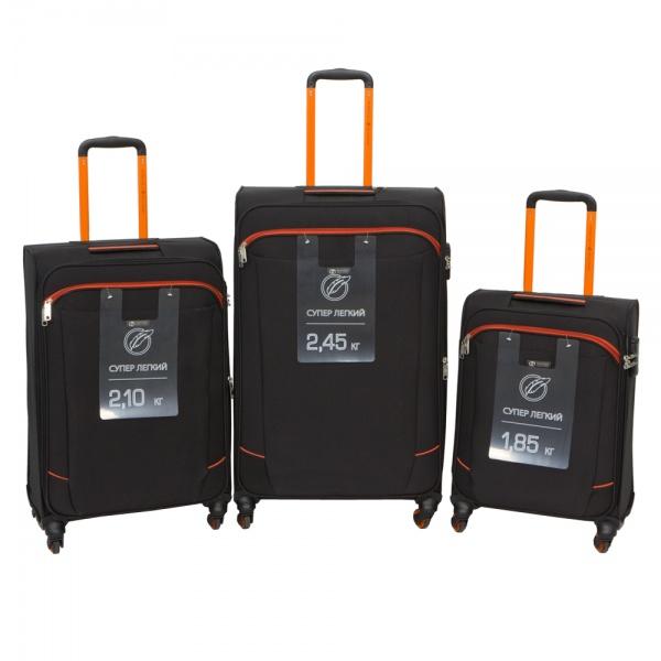 Комплект чемоданов 270-29111/3-BLK Francesco Molinary FMolinary Франческо Молинари FMolinari Molinari