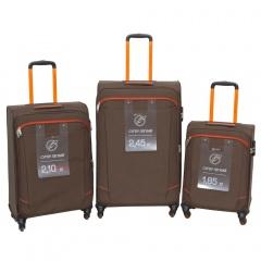 Комплект чемоданов 270-29111/3-BRW Francesco Molinary FMolinary Франческо Молинари FMolinari Molinari