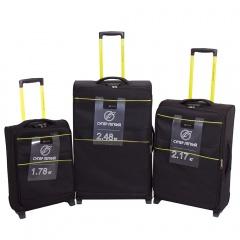 Комплект чемоданов 270-29121/3-BLK Francesco Molinary FMolinary Франческо Молинари FMolinari Molinari