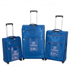 Комплект чемоданов 270-29131/3-BLU Francesco Molinary FMolinary Франческо Молинари FMolinari Molinari