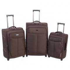 Комплект чемоданов 333-A-151/3-BRW Francesco Molinary FMolinary Франческо Молинари FMolinari Molinari